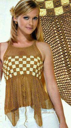 Tecendo Artes em Crochet: Duas Blusinhas Fofas para Vocês!