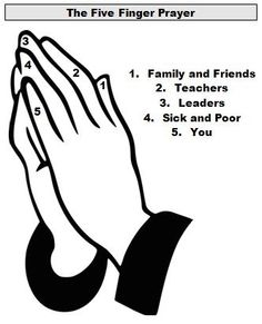 And yet another 5 finger prayer. I like how they included