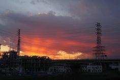 #factory #olympus #pl6 #epl6 #olympuspen #新河岸川 #夕焼け 工場写真の続きです (by htakizawa)