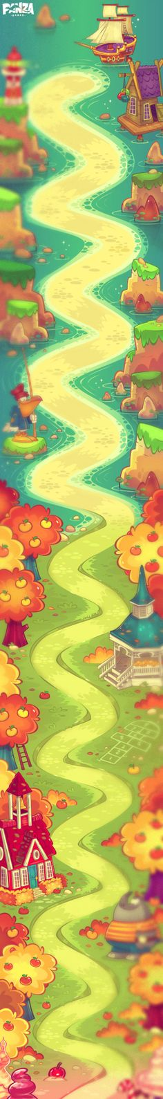 N/A Game Concept, Concept Art, Map Games, Candy Games, Global Map, 2d Game Art, Bubble Games, Blue Boat, Game Interface
