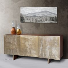 """Our best seller """"Nerea"""" sideboard now available with the unique Gelo pattern..!"""