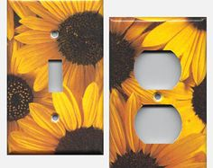 Yellow Sunflowers/Black Eyed Susans Floral Light Switch Plates/Light Switch Covers and Wall Outlet Covers