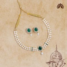 Product Code:JPH3412, Contact us on +91 9248036721. Oval Shape Inspired Necklace & Ear studs crafted using alloy polished using yellow gold with Green, White Cz's and stringed using white pearls adorn the vibrant Feminine. #krishnapearls #pearlsets #pearlnecklaces #pearlnecklaceset #freshwaterpearlnecklace #originalpearls #freshwaterpearlearrings #naturalpearl #naturalpearls #purepearls #cityofpearls #hyderabadipearls #pearldesigns #whitepearlnecklace #nizamipearls #necklacesets #pearls White Pearl Necklace, Stone Necklace, Pearl Jewelry, Pearl White, Pearl Set, Freshwater Pearl Necklaces, Green Stone, Ear Studs, Earring Set