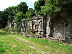What's left of the catacombs at Warriston Cemetery, Edinburgh