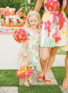 sweet flower girl in Lilly | KT Merry #wedding