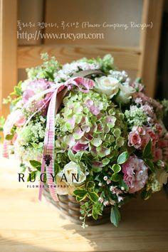 꽃바구니,플라워바스켓(Flower Basket)_[플라워스쿨,루시안]취미반 플라워레슨 :: 네이버 블로그