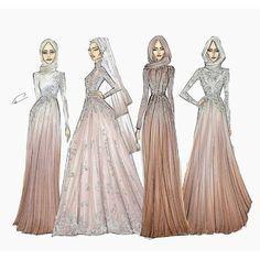 Hijabi Fashion Sketch