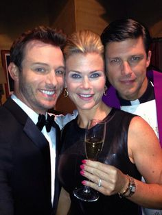 Eric Martsolf, Greg Vaughan and Alison Sweeney behind the scenes Days of our Lives