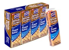 Whole Grain Peanut Butter — Real peanut butter on whole grain crackers  #LanceBacktoSchoolChecklist