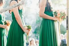 Emerald green bridesmaids dresses - Palm Springs Wedding from onelove photography | CHECK OUT MORE IDEAS AT WEDDINGPINS.NET | #weddings #bridesmaids #bridal #dresses #fashion #forweddings