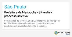 Prefeitura de Mariápolis - SP realiza processo seletivo - https://anoticiadodia.com/prefeitura-de-mariapolis-sp-realiza-processo-seletivo/