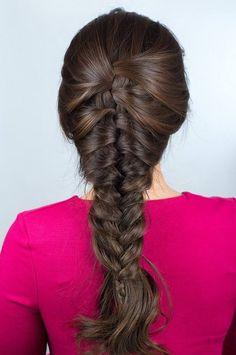 Fischgrätenzopf Frisur ohne Flechten zaubern #hairstyles