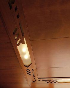 Rosenbaum House - Frank Lloyd Wright - Detail of unique Frank Lloyd Wright lights