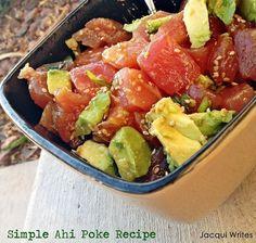 Simple Ahi Poke Recipe – Just Like Cheesecake Factory's – Las Vegas Fit Mom Hcg Diet Recipes, Cooking Recipes, Healthy Recipes, Hcg Meals, Healthy Lunches, Healthy Foods, Ahi Tuna Recipe, Ahi Tuna Poke, Poke Recipe