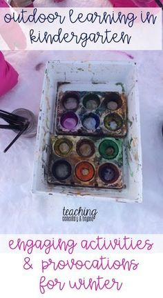Snow provocations lead to many children having a lot of fun in the snow! Set up a variety of engaging winter activities for young children in preschool or kindergarten and keep them engaged for hours! Several winter art ideas are included in this post!
