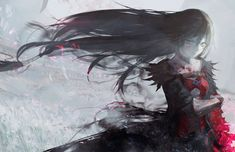 HD wallpaper: black hair, Velvet Crowe, anime girls, blood, Tales of Berseria Velvet Crowe, Tales Of Berseria, Tales Of Zestiria, Tales Series, Horror, Character Wallpaper, Female Anime, Illustrations, Anime Style