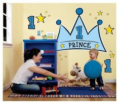 Lil' Prince 1st Birthday Wall Decal    #birthday card #greeting cards #gifts #happy birthday #decorations # girls birthday #girls party themes #boy Birthday  Click picture for more information