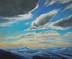 "'Tusk Skies' 20"" x 24"" Acrylic on Canvas by BC artist Charlie Easton"