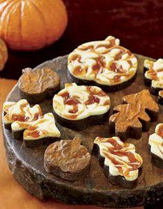fall cheesecake brownies