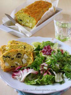 Cucchiaio pieno - receitas vegetarianas, italianas e muito mais! Com passo-a-passo e fotografia.: Bolo de queijo, azeitona e ervas