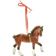 breyer clydesdale beautiful breeds ornament 6th in series for 2008 christmas horseshorse - Horse Christmas Ornaments