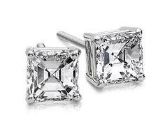 Asscher Diamond Studs