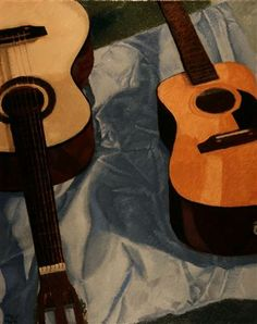 """""""Two Guitars on Sheet"""" by Mike Pavol http://www.ugallery.com/mike-pavol"""
