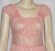 Gorgeous My Size, Nightgown, Rapunzel, Fancy Dress, Chiffon, Coral, Ruffle Blouse, Elegant, Medium
