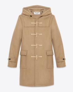 Saint Laurent Paris Classic Duffle Coat, in Camel. From the Permanent Collection. Price: $2,690