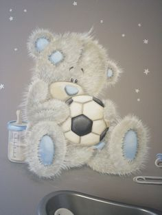 Me to you bear on the wall of my babyroom..