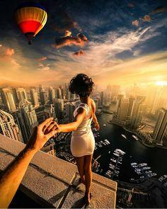"""""""High in the sky in Dubai."""""""