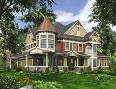 Grandeur in Many Versions - 23361JD | Northwest, Shingle, Victorian, Luxury, Photo Gallery, Premium Collection, 2nd Floor Master Suite, Butler Walk-in Pantry, CAD Available, Den-Office-Library-Study, Loft, MBR Sitting Area, Media-Game-Home Theater, PDF, Corner Lot | Architectural Designs