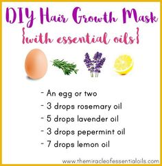 DIY Essential Oil Hair Growth Mask for Longer, Thicker & Lustrous Hair