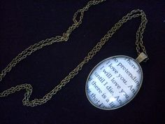 The Mortal Instruments Quote Necklace by GracieBlossoms on Etsy, £8.99