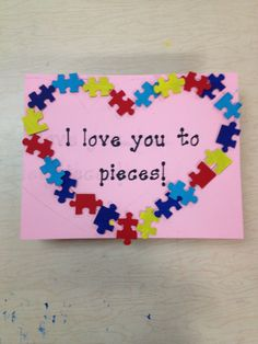 Autism Valentines craft
