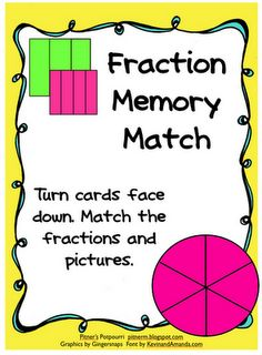 Pitner's Potpourri: Fraction Memory Match -- Freebie!