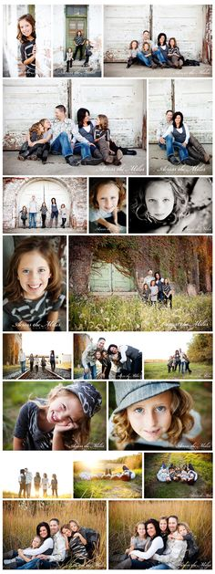 family poses- love the bottom ones; I love where they took these photos.