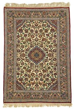 Silk warp Isphahan rug   central persia, circa 2nd half 20th century    5 ft. 2 in. x 3 ft. 5 in.  - FREEMAN'S