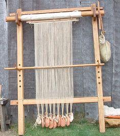 Warp weighted loom by Ian Uzzell