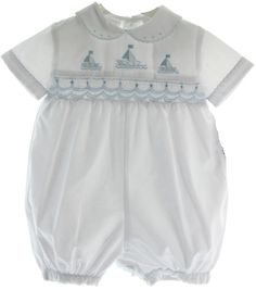 Out of Stock Sarah de Roos alpinemaid Smocking Shop online for newborn boutique clothing. We carry […] Baby Clothing Boy Newborn Outfits, Baby Boy Outfits, Kids Outfits, Vintage Baby Clothes, Organic Baby Clothes, Baby Boy Romper, Baby Dress, Boy Baptism Outfit, Girls Smocked Dresses