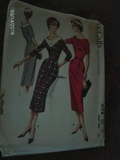 VTG Sewing Pattern McCALL'S #4178 - SIZE 16 BUST 36 - FACTORY FOLDED - YR. 1957