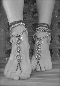 Boho jewelry - foot jewelry - barefoot sandal