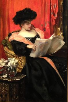 ✉ Biblio Beauties ✉ paintings of women reading letters and books - Lady Reading, Irving Ramsay Wiles. Lyman Allyn Museum.