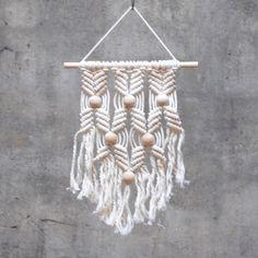 Väggbonad Makramé, Natur Asp, Frosta Design