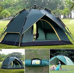Toparchery 3-4 Person Waterproof Outdoors Camping Tent Festival Hiking Carry Case Easy Portable Pop-Up Tents ** Tried it! Love it! Click the item shown here. : Hiking tents