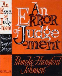 AN ERROR OF JUDGEMENT by ERIC FRASER Macmillan dust jacket 1962