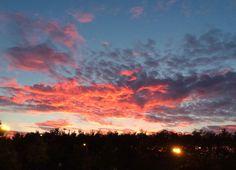 Gorgeous post-run sunset in glamorous Gorbals tonight. #sunset #Glasgow #running #thisgirlcan