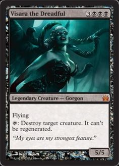 Visara the Dreadful mtg Magic the Gathering foil mythic rare black From the Vault Legends