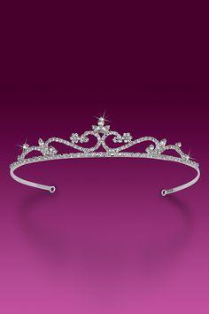 Rhinestone Tiara - Bridal - Miss Pretty (Crystal) - Rhinestone Jewelry - Party Tiaras Bridal Crown, Bridal Tiara, Bridal Headpieces, Royal Tiaras, Tiaras And Crowns, Rhinestone Jewelry, Crystal Rhinestone, Wedding Tiaras, Wedding Veils