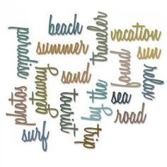 661288 Sizzix Thinlits Die Set 18PK - Vacation Words: Script by Tim Holtz